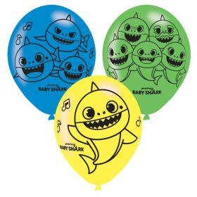 "Baby Shark Latex Balloons 11"", pk6"