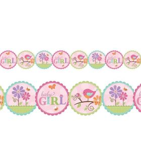 Tweet Baby Girl Baby Shower Garland 2.4m