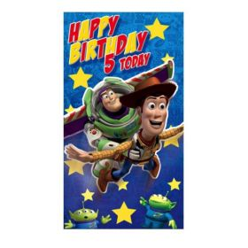 Toy Story 5th Birthday Card