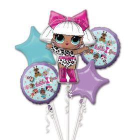 LOL! Surprise Foil Balloon Bouquet, pk5