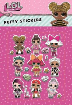LOL! Surprise Puffy Stickers, pk20