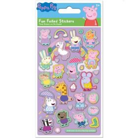 Peppa Pig Pink Foil Stickers