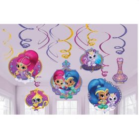 Shimmer & Shine Swirl Decoration pk12
