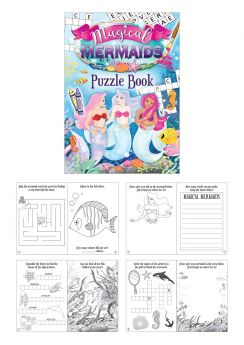 Magical mermaid puzzle book