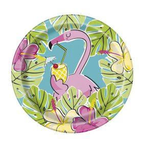 Summer Flamingo Party Dessert Plates