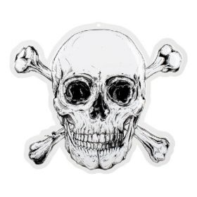 Pirate Skull Wall Decoration 42cm x 50cm