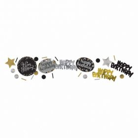 Gold Sparkling Celebration Happy Birthday Confetti 34g
