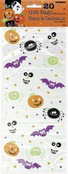 Spooky Smiles Cello Bags 5'' x 11'', pk20