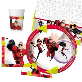 The Incredibles 2 Party Pack For 8 Including Tableware And 8 Filled Party Bags