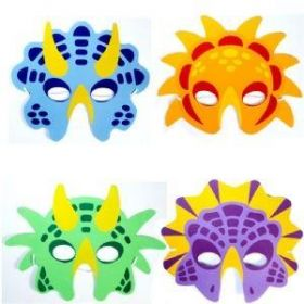 Dinosaur Masks with Elastic, pk6