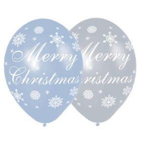 "Merry Christmas Snow Balloons 11"""