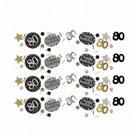 Gold Sparkling Celebration 80th Confetti 34g