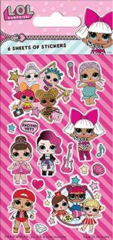 LOL! Surprise Party Bag Stickers, pk6