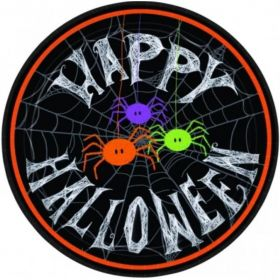 Spider Frenzy Halloween Dinner Plates