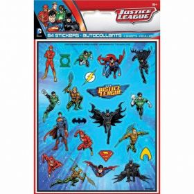 Justice League Stickers Sheet, pk4