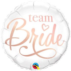 Rose Gold Team Bride Foil Balloon 18""