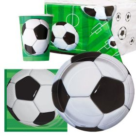 3D Soccer Party Tableware Pack for 8