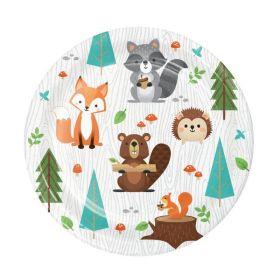 Wild Woodland Animals Lunch Plates 18cm, pk8