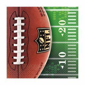 NFL Beverage Napkins 25cm x 25cm, pk16