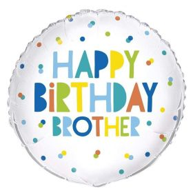 Happy Birthday Brother Foil Balloon 18""