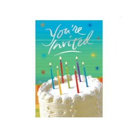 Sparkle Wishes Prismatic Invitations, pk8