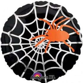 Halloween Sophisticated Spider Web Foil Balloon 18""