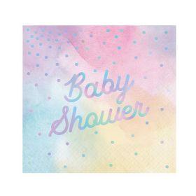 Iridescent Baby Shower Luncheon Napkins