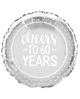 Diamond Cheers to 60 Years Foil Balloon 18""