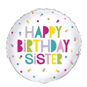 Happy Birthday Sister Foil Balloon 18""
