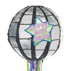 Happy New Year Disco Ball Pinata
