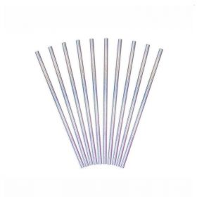 Iridescent Paper Straws, pk24