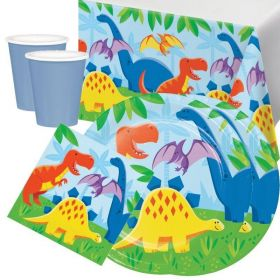 Dinosaur Tableware Party Pack for 16