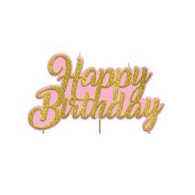 Confetti Fun Happy Birthday Pick Candle 8cm