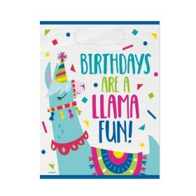Llama Birthday Party Bags, pk8