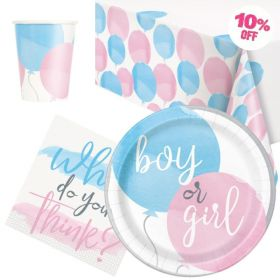 Gender Reveal Party Party Tableware Pack for 8