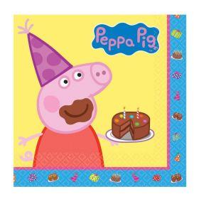 Peppa Pig Napkins 33cm x 33cm, pk16