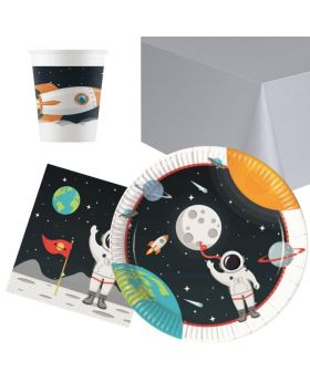 Space Astronaut Party Tableware Pack for 8