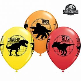Jurassic World Fallen Kingdom Latex Balloons, pk6