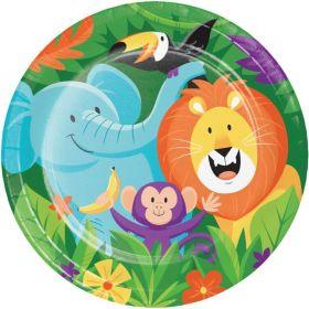 Jungle Safari Party Dinner Plates 23cm, pk8