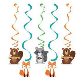 Wild Woodland Animals Dizzy Danglers, pk5