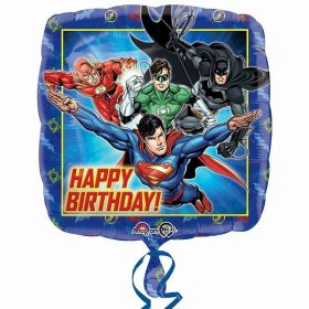 Justice League Happy Birthday Standard Foil Balloon