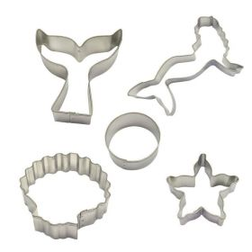 Mermaid Tin-Plated Cookie Cutter Kit