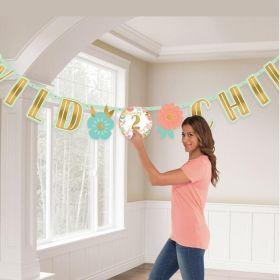 Boho Birthday Girl Add ad Age Letter Banner 3.2m