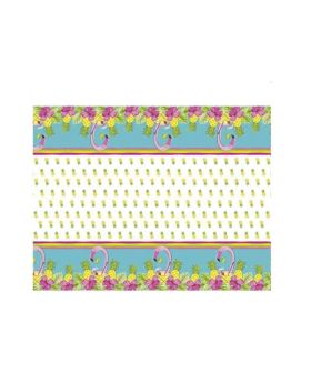 Summer Pineapple & Flamingo Party Party Tablecover 1.37m x 2.13m