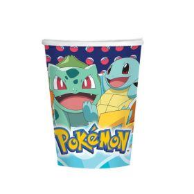 New Pokemon Paper Cups 250ml, pk8