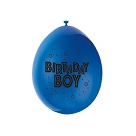 "Happy Birthday Boy Latex Balloons 9"", pk10"