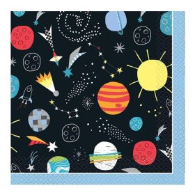 Outer Space Party Napkins 33cm x 33cm, pk16