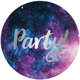 Galaxy Party Plates 23cm, pk8