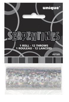 Black & Silver Glitz Sepentines
