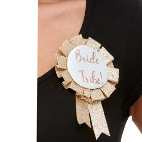 Rose Gold Bride Tribe Rosette